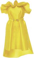 Alexis Mabille Yellow Corolla Bustier Dress