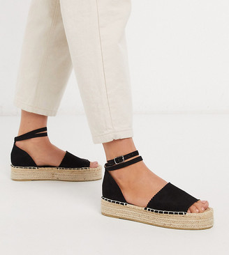 South Beach Exclusive flatform espadrilles in black