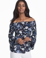 White House Black Market Off-the-Shoulder Floral Blouse