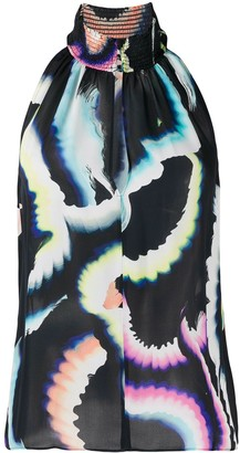 A.L.C. Abstract Print Top