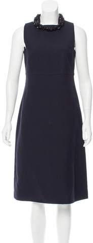 Valentino Embellished Wool-Blend Dress w/ Tags