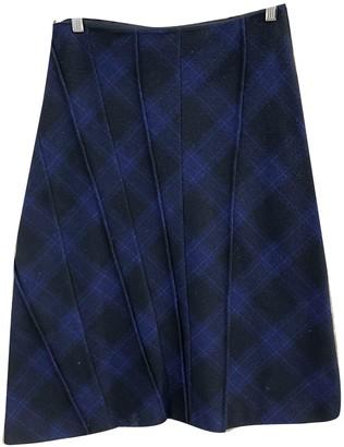 Philosophy di Alberta Ferretti Blue Wool Skirt for Women