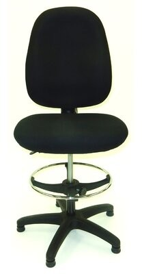 """Symple Stuff 50.5"""" Upholstered Seat Drafting Chair Symple Stuff"""