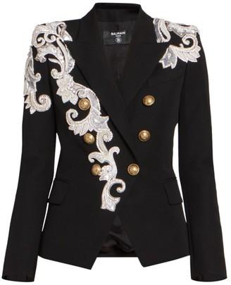 Balmain Embroidered Wool Jacket