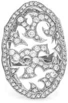 Stephen Webster 18K White Gold Thorn Pavé Diamond Ring Size 6.5