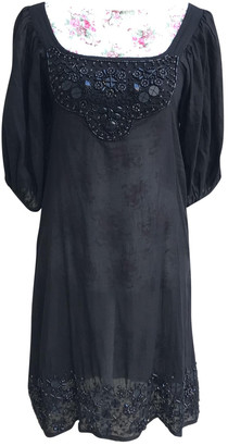 Antik Batik Black Linen Dress for Women