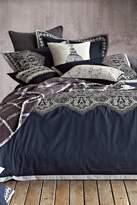 Melange Home Arabesque Duvet Set - White/Navy