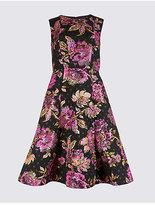 Per Una Floral Print Fuller Bust Skater Midi Dress