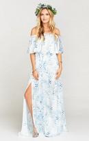 MUMU Hacienda Maxi Dress ~ Blue Me Away