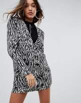 Asos Zebra Print Soft Blazer