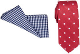 Geoffrey Beene 7cm Tie & Pocket Square Set (Spot/Check)