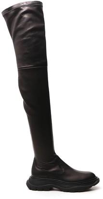 Alexander McQueen Thigh-High Tread Boots
