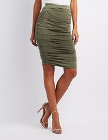 Charlotte Russe Ruched Pencil Skirt