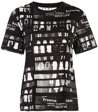 Proenza Schouler White Label PSWL Run of Show Short Sleeve T-Shirt