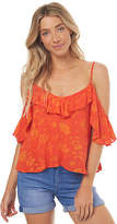 Rusty New Women's Elba Lily Cami Cotton Orange