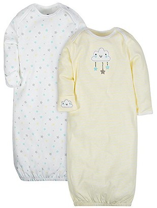 Gerber baby-girls2-pack Gown Long Sleeve Infant-and-Toddler-Nightgowns - - 0-6 Months