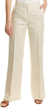 Brooks Brothers Wide Leg Linen Pant