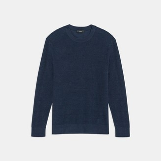 Theory Crewneck Sweater in Linen Blend