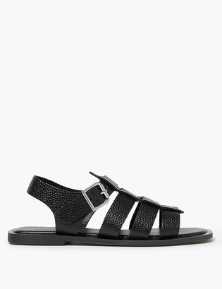 Marks and Spencer Leather Open Toe Fisherman Style Sandals