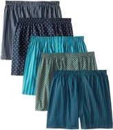 Fruit of the Loom Men's 5pk Printed Woven Boxer