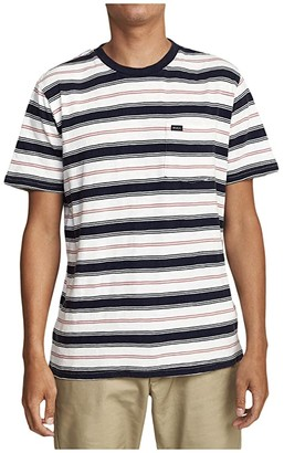 RVCA Davis Stripe Short Sleeve (Antique White) Men's Clothing
