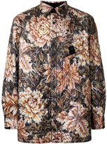 Y-3 Floral Camouflage Quilted Shirt Jacket
