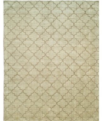 Wildon Home Geometric Handmade Wool/Viscose Beige Area Rug Rug Size: 10' x 14'
