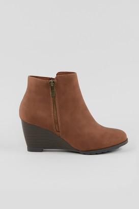 Wallis Tan Wedge Heel Boot