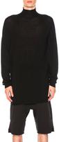 Rick Owens Oversize Turtleneck Sweater in Black.