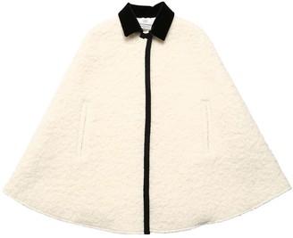 Philosophy di Lorenzo Serafini Virgin Wool Blend Boucle Cape
