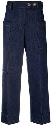 REJINA PYO High-Rise Cropped Trousers