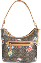 Giani Bernini Postcard-Print Hobo, Only at Macy's