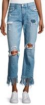3x1 WM3 Cropped Straight-Leg Fringe Jeans, Mazzy