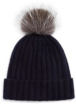 The Men's Store at Bloomingdale's Ribbed Faux Fur Pom Hat