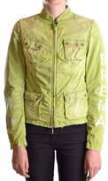 Brema Women's Green Cotton Outerwear Jacket.