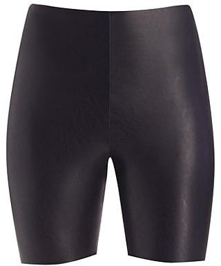 Commando Faux Leather Biker Shorts