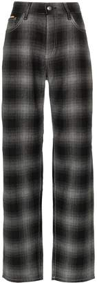 Eytys Benz tartan high-waist trousers