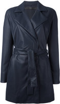 Drome belted coat - women - Cotton/Lamb Skin - S