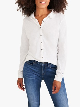 White Stuff Pom Trim Jersey Shirt, White