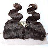 """KBL 5A 150% Density 13x3 Brazilian Virgin Hair Body Wavy Free Part Lace Frontal Closure with Bleached Knots Can Be Dyed and Permed (8"""")"""