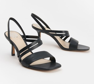 Vince Camuto Leather Strappy Heeled Sandals - Savesha