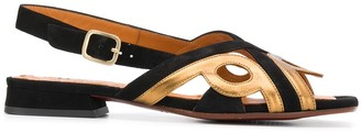 Chie Mihara Two-Tone Flat Sandals