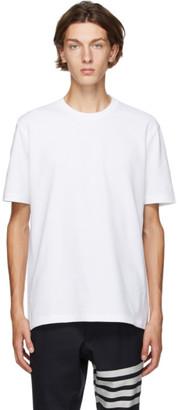 Thom Browne White Pique Engineered 4-Bar T-Shirt