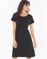 Soma Intimates Embroidered Short Black Dress