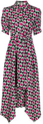 Dvf Diane Von Furstenberg Geometric-Print Midi Shirtdress