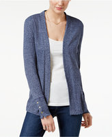 MICHAEL Michael Kors Ribbed Open-Front Cardigan