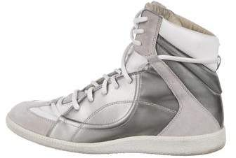 Maison Margiela Metallic High-Top Sneakers
