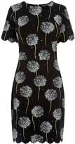 Warehouse Dandelion Print Scallop Dress
