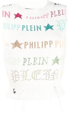 Philipp Plein Statement knitted top