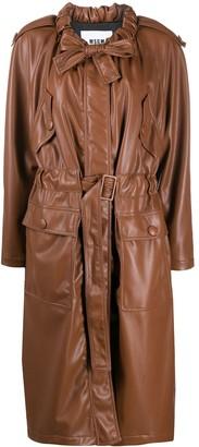MSGM Ruffled Collar Coat